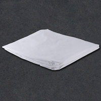 54 inch x 80 inch x 15 inch White Full Size 300 Thread Count Cotton / Poly Fitted Hotel Sheet - 12/Case