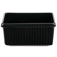 Tablecraft CW1530BK 3 Qt. Black Rectangle Server with Ridges