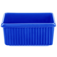 Tablecraft CW1530BL 3 Qt. Cobalt Blue Rectangle Server with Ridges
