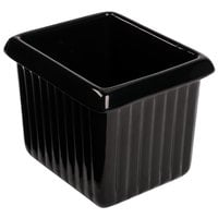 Tablecraft CW1520BK 1 Qt. Black Cast Aluminum Rectangle Server with Ridges