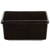Tablecraft CW1530BKGS 3 Qt. Black with Green Speckle Rectangle Server with Ridges