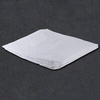 60 inch x 80 inch x 15 inch White Queen Size 300 Thread Count Cotton / Poly Fitted Hotel Sheet - 12/Case