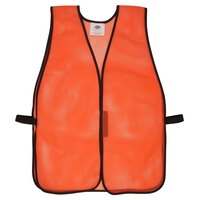 Orange High Visibility Safety Vest with Velcro® Closure - 25 inch x 18 inch