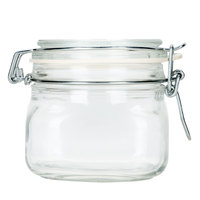 Libbey 17208836 17 oz. Garden Jar with Clamp Lid