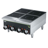 Vollrath Cayenne 924HIMC Four Hob Heavy Duty Induction Hot Plate with Manual Controls 208/240V