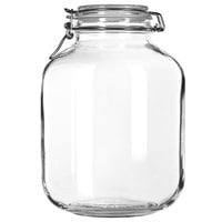 Libbey 17214624 4.5 qt. Garden Jar with Clamp Lid