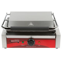 Avantco P75SG Grooved Top and Smooth Bottom Commercial Panini Sandwich Grill - 120V, 1750W
