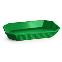 Tablecraft CW2020GN 13 Qt. Green Cast Aluminum Octagon Casserole Dish