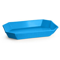 Tablecraft CW2020SBL 13 Qt. Sky Blue Cast Aluminum Octagon Casserole Dish