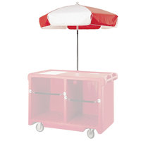 Cambro 14322 Red and White Replacement Umbrella for CVC55 Camcruiser
