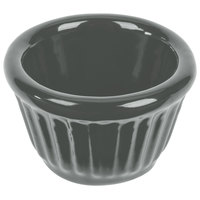 Tablecraft CW1640GY 1.2 oz. Gray Cast Aluminum Ramekin