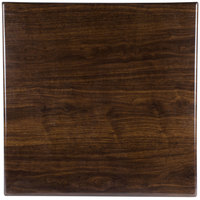 BFM Seating TTRS3030WA Resin 30 inch Square Indoor Tabletop - Walnut