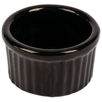 Tablecraft CW1655BK 6 oz. Black Cast Aluminum Ramekin