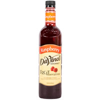 DaVinci Gourmet 750 mL Raspberry Fruit Innovations Cold Beverage Flavoring / Fruit Syrup