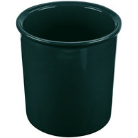 Tablecraft CW1680HGNS 2.5 Qt. Hunter Green with White Speckle Cast Aluminum Salad Dressing Bowl