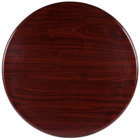 BFM Seating TTRS24RMH Resin 24 inch Round Indoor Tabletop - Mahogany