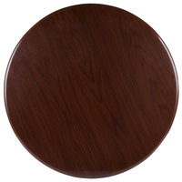 BFM Seating TTRS48RWA Resin 48 inch Round Indoor Tabletop - Walnut
