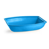 Tablecraft CW3195SBL 8 Qt. Sky Blue Cast Aluminum Oblong Salad Bowl