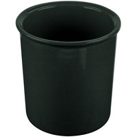 Tablecraft CW1680BKGS 2.5 Qt. Black with Green Speckle Cast Aluminum Salad Dressing Bowl