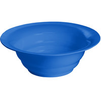 Tablecraft CW3120BL 10 Qt. Cobalt Blue Cast Aluminum Wide Rim Salad Bowl