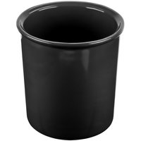 Tablecraft CW1680BK 2.5 Qt. Black Cast Aluminum Salad Dressing Bowl