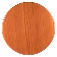 BFM Seating TTRS24RCH Resin 24 inch Round Indoor Tabletop - Cherry
