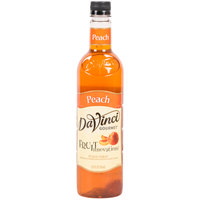 DaVinci Gourmet 750 mL Peach Fruit Innovations Flavoring / Fruit Syrup