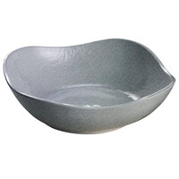 Tablecraft CW12082GR 24 oz. Granite Cast Aluminum Wavy Square Bowl