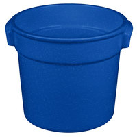 Tablecraft CW1300BS 7 Qt. Blue Speckle Cast Aluminum Bain Marie Soup Bowl
