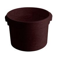 Tablecraft CW1312MIS 5 Qt. Midnight Speckle Cast Aluminum Half Soup Bowl