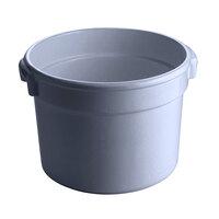 Tablecraft CW1312N 5 Qt. Natural Cast Aluminum Half Soup Bowl