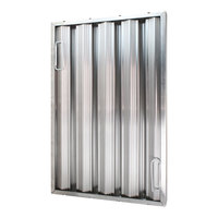All Points 26-3896 25 inch x 16 inch x 2 inch Stainless Steel Hood Filter - Ridged Baffles