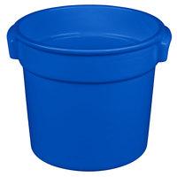 Tablecraft CW1300BL 7 Qt. Blue Cast Aluminum Bain Marie Soup Bowl