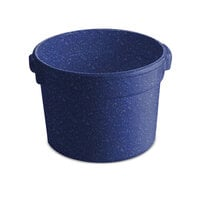 Tablecraft CW1310BS 11 Qt. Blue Speckle Cast Aluminum Bain Marie Soup Bowl