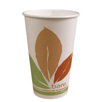 Dart Solo 370PLA-BB 10 oz. Bare Bloom Paper Hot Cup - 1000/Case