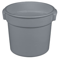 Tablecraft CW1300GY 7 Qt. Gray Cast Aluminum Bain Marie Soup Bowl