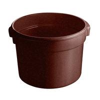 Tablecraft CW1312TC 5 Qt. Terra Cotta Cast Aluminum Half Soup Bowl