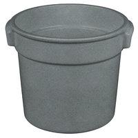 Tablecraft CW1300GR 7 Qt. Granite Cast Aluminum Bain Marie Soup Bowl