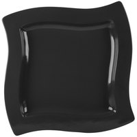 Tablecraft CW3650BK 13 inch Square Black Cast Aluminum Euro Platter