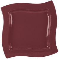 Tablecraft CW3650MRS 13 inch Square Maroon Speckle Cast Aluminum Euro Platter