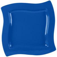 Tablecraft CW3650CBL 13 inch Square Cobalt Blue Cast Aluminum Euro Platter