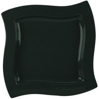 Tablecraft CW3650BKGS 13 inch Square Black with Green Speckle Cast Aluminum Euro Platter