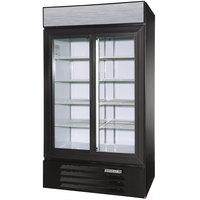 Beverage Air LV38-1-B-LED Black LumaVue 43 inch Refrigerated Glass Door Merchandiser with LED Lighting- 38 Cu. Ft.