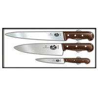 Victorinox Forschner 46057 Rosewood 3 Piece Chef Knife Set