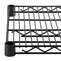 "Regency 24"" x 24"" NSF Black Epoxy Wire Shelf"