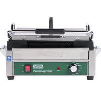 Waring WPG250C 14 1/2 inch x 11 inch Panini Supremo Grooved Top & Bottom Panini Sandwich Grill - 120V (Canadian Use Only)