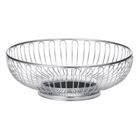 Tablecraft 4174 Medium Oval Chrome Basket - 9 inch x 6 inch x 2 5/8 inch