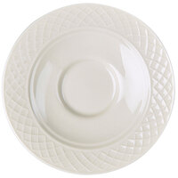 Homer Laughlin 8846900 Kensington 5 5/8 inch Bright White China Saucer - 36/Case