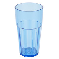 24 oz. Blue Polycarbonate Diamond Tumbler - 12 / Case