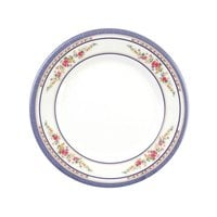 Rose 6 inch Round Melamine Plate - 12/Pack